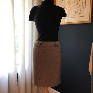 Banana Republic Brown Houndstooth Skirt 4
